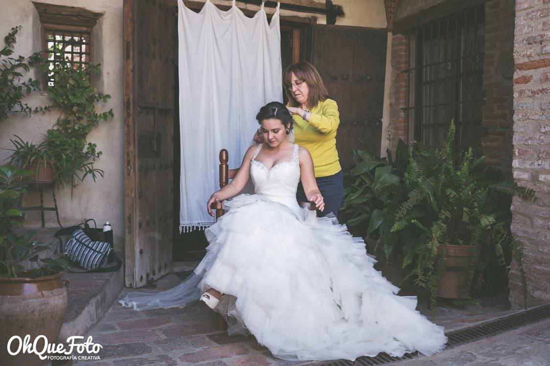 Reportaje de boda en Almadén (Ciudad Real) - OhQueFoto - Peluquería María Jesús - Hotel Condes Fúcares