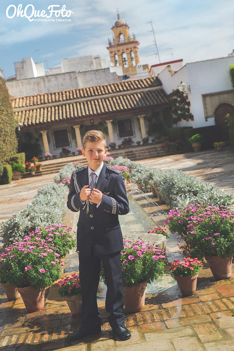 Reportaje de comunión en el Palacio de Viana de Córdoba