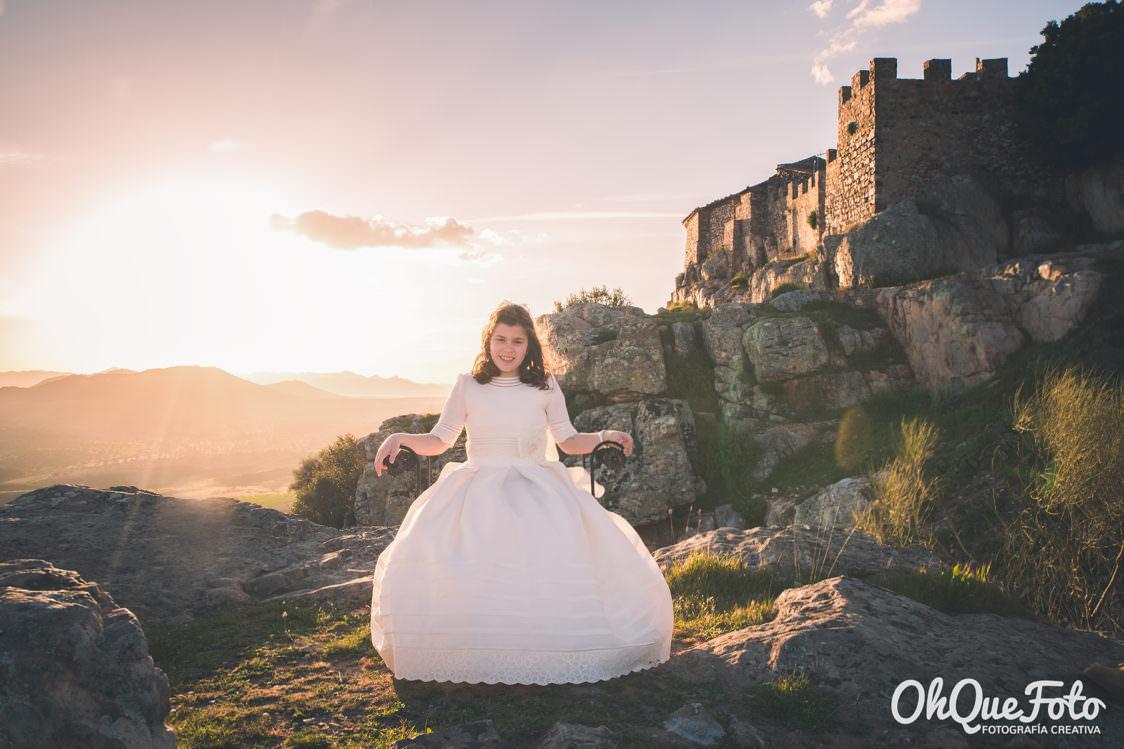 Comunión Helena en La Virgen del Castillo, Chillón, Ciudad Real